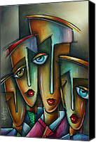Tribal Art Painting Canvas Prints - The Union Canvas Print by Michael Lang