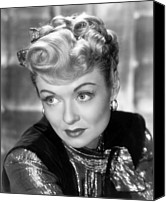 Gold Lame Canvas Prints - The Unsuspected, Constance Bennett, 1947 Canvas Print by Everett