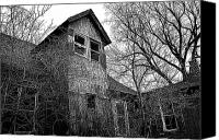 Haunted House Photo Canvas Prints - The Upstairs Lookout Canvas Print by Phil Koch