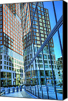 Sky Line Canvas Prints - The Urban Maze Canvas Print by JC Findley