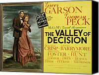 Fod Canvas Prints - The Valley Of Decision, Gregory Peck Canvas Print by Everett
