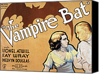 Posth Canvas Prints - The Vampire Bat, Fay Wray, Lionel Canvas Print by Everett