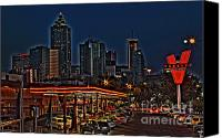 Photographers Atlanta Canvas Prints - The Varsity Atlanta Canvas Print by Corky Willis Atlanta Photography
