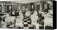First-class Canvas Prints - The Verandah Cafe Of The Titanic Canvas Print by Photo Researchers