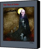 Vampire Canvas Prints - The Vicar of Crafax... Canvas Print by Will Bullas