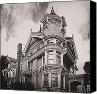 Grand Home Canvas Prints - The Victorian Haas Lilienthal House - San Francisco Canvas Print by Daniel Hagerman