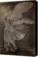 Greek Sculpture Canvas Prints - The Victory of Samothrace Canvas Print by Julianna Ziegler