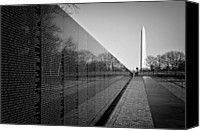 War Memorial Canvas Prints - The Vietnam Veterans Memorial Washington DC Canvas Print by Ilker Goksen