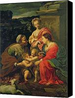 Father Christmas Canvas Prints - The Virgin and Child with Saints Canvas Print by Simon Vouet