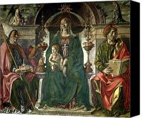 Enthroned Canvas Prints - The Virgin and Saints Canvas Print by Francesco del Cossa