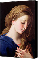 Annunciation Canvas Prints - The Virgin Annunciate Canvas Print by  Pompeo Girolamo Batoni