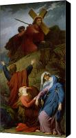 Magdalene Canvas Prints - The Virgin of Calvary Canvas Print by Jules Eugene Lenepveu
