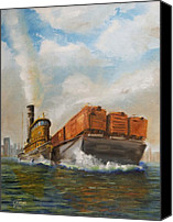 Tugboat Canvas Prints - The Vital Link Canvas Print by Christopher Jenkins