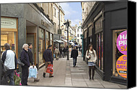 Shopping Canvas Prints - The Wait in Bath Canvas Print by Mike McGlothlen