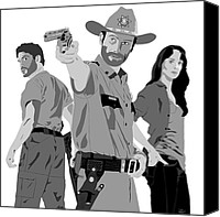 Featured Special Promotions - The Walking Dead Canvas Print by Paul Dunkel