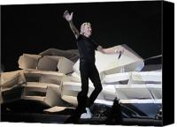Roger Waters Canvas Prints - The Wall ....collapsed Canvas Print by Paul Weiss