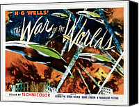 1950s Poster Art Canvas Prints - The War Of The Worlds, 1953 Canvas Print by Everett