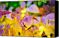 Closeup Mixed Media Canvas Prints - The Warmth of Autumn Glow Abstract Canvas Print by Andee Photography