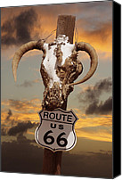 66 Canvas Prints - The Warmth of Route 66 Canvas Print by Mike McGlothlen