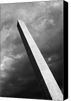 Washington Dc Canvas Prints - The Washington Monument in the dark sky Canvas Print by Hideaki Sakurai