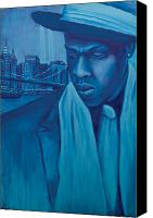 Jay Z Painting Canvas Prints - The Watcher Canvas Print by Derek Donnelly