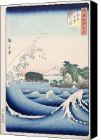 Stormy Canvas Prints - The Wave Canvas Print by Hiroshige