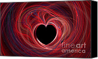 Fine Art Fractal Art Canvas Prints - The Way to my Heart Canvas Print by Kaye Menner