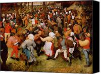 1566 Canvas Prints - The Wedding Dance Canvas Print by Pieter the Elder Bruegel