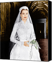 Kelly Canvas Prints - The Wedding In Monaco, Grace Kelly, 1956 Canvas Print by Everett