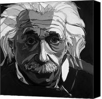 Albert Canvas Prints - The Weight of Genius Canvas Print by John Gibbs