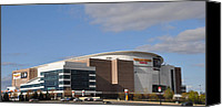 Stadium Digital Art Canvas Prints - The Wells Fargo Center - Philadelphia  Canvas Print by Bill Cannon