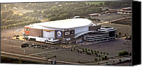 Stadium Digital Art Canvas Prints - The Wells Fargo Center Canvas Print by Bill Cannon
