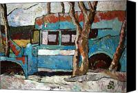 Contrasts Posters Canvas Prints - The Wheels Of The Bus Stopped Canvas Print by Charlie Spear