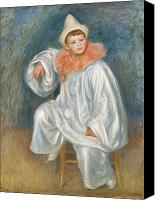 Clowns Canvas Prints - The White Pierrot Canvas Print by Pierre Auguste Renoir