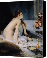 Orientalist Canvas Prints - The White Slave Canvas Print by Jean Jules Antoine Lecomte du Nouy