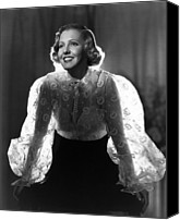 Blouse Canvas Prints - The Whole Towns Talking, Jean Arthur Canvas Print by Everett