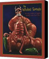 Salsa Canvas Prints - The Wicked Tomarto... Canvas Print by Will Bullas