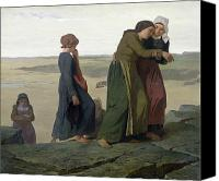 Loss Painting Canvas Prints - The Widow Canvas Print by Evariste Vital Luminais