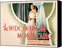 Del Rio Canvas Prints - The Widow From Monte Carlo, Dolores Del Canvas Print by Everett