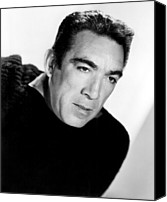 1956 Movies Canvas Prints - The Wild Party, Anthony Quinn, 1956 Canvas Print by Everett