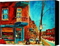 Montreal Street Life Canvas Prints - The Wilensky Doorway Canvas Print by Carole Spandau