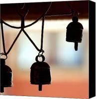 Wind Chimes Canvas Prints - The wind chimes Canvas Print by Shiladitya Sinha