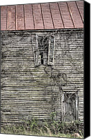 Haunted House Canvas Prints - The Window up Above Canvas Print by JC Findley