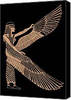 Icon  Glass Art Canvas Prints - The Winged Isis Canvas Print by Jim Ross