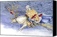 Illustration Canvas Prints - The Winter Changeling Canvas Print by Janet Chui