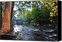 Chestnut Hill Canvas Prints - The Wissahickon Creek Canvas Print by Bill Cannon