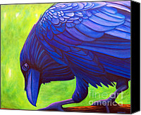 Ravens Canvas Prints - The Witness Canvas Print by Brian  Commerford