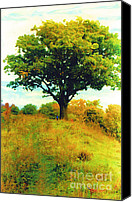 Ontario Mixed Media Canvas Prints - The Witness Tree Canvas Print by Michael Klein