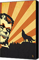 Halloween Digital Art Canvas Prints - The Wolfman Canvas Print by Dave Drake