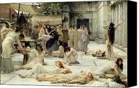 Asleep Painting Canvas Prints - The Women of Amphissa Canvas Print by Sir Lawrence Alma-Tadema